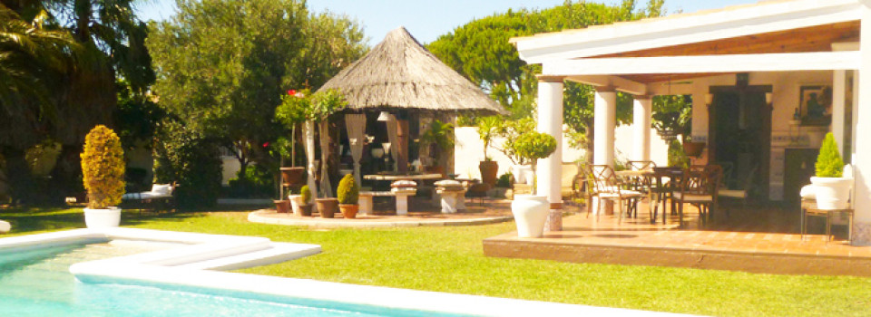 Haus, Villa, Chalet, Ferienhaus, Chiclana de la Frontera, zu verkaufen, Pool, Gästeapartment, ruhige Lage, stadtnah, strandnah