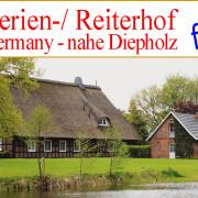Reiterhof, Ferienhof mit See und Gästeapartments in Niedersachsen nahe Diepholz zzu verkaufen