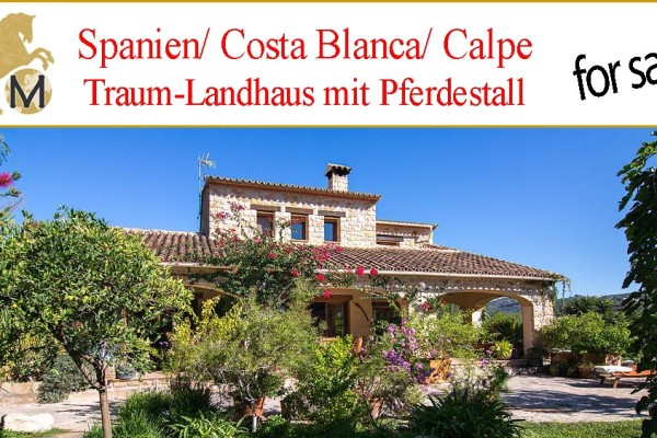 countryhouse with stable, Costa Blanca for sale